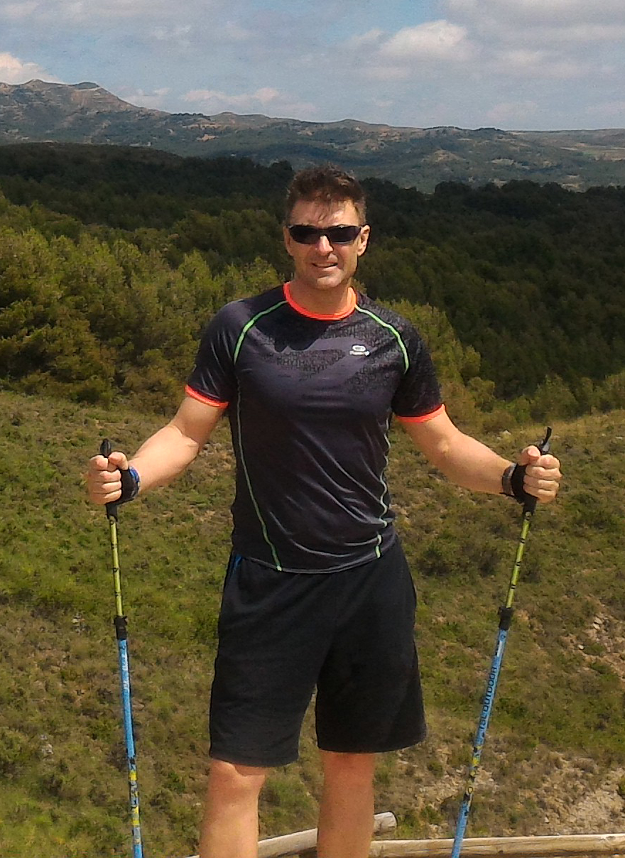 Jesús Claramunt instructor Nordic Walking